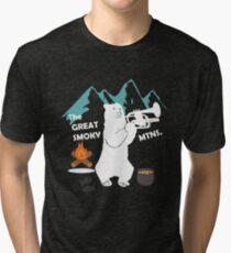 The Great Smoky Mountains Smokey Bluegrass Bear white Tri-blend T-Shirt