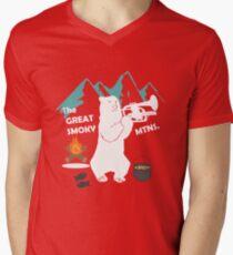 The Great Smoky Mountains Smokey Bluegrass Bear white T-Shirt