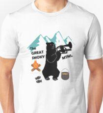 The Great Smoky Mountains Smokey Bluegrass Bear black Unisex T-Shirt
