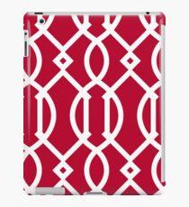 Rot, weiß, Gitter, modern, modisch, girly, dekorativ, Muster iPad-Hülle & Skin