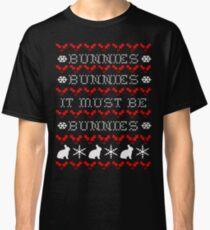 Bunnies Ugly Christmas Sweater (Buffy) Classic T-Shirt