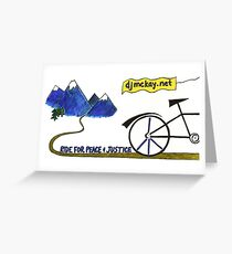 Ride for Peace and Justice Greeting Card