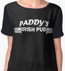 Paddys Irish Pub white Chiffon Top