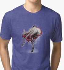 Octo Stilts Shirt (for dark shirts) Tri-blend T-Shirt