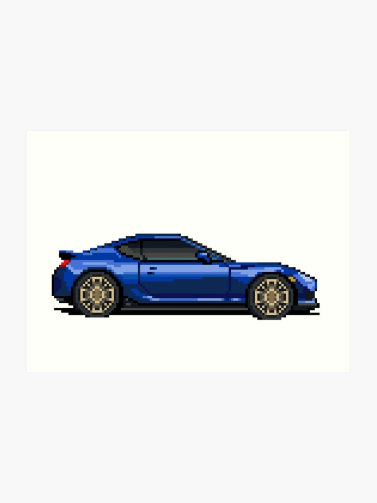 Scion Frs Subaru Brz Pixel Car Art Print