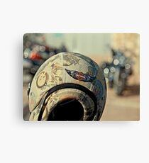Harley Davidson Helmet Canvas Print