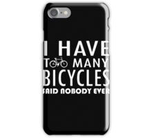 Bicycle - Too Many Bicycles iPhone Case/Skin