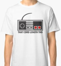 NES Nintendo Classic Edition Mini Controller Cord Length Tho Classic T-Shirt