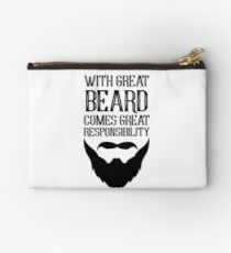 With Great Beard Comes Great Responsibility Studio Pouch