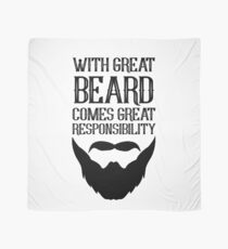 With Great Beard Comes Great Responsibility Scarf