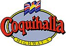 Coquihalla Highway 5 British Columbia Vintage Travel Decal by hilda74