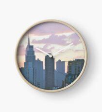 New York City Sunset Clock