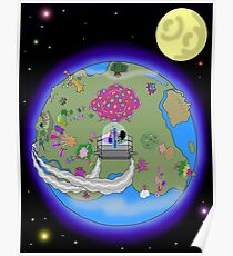 Back to the Rainbow Flower Tree Poster