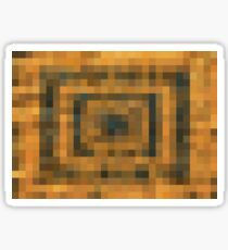 brown black and orange pixel abstract background Sticker