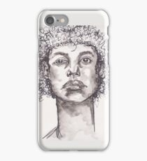 Watercolor BW Portrait iPhone Case/Skin