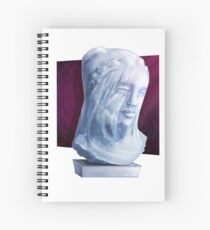Ghostly Bust - Mystery Series Spiral Notebook