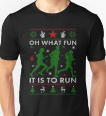Running Ugly Christmas Tee Slim Fit T-Shirt