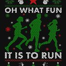 Running Ugly Christmas Tee by EthosWear