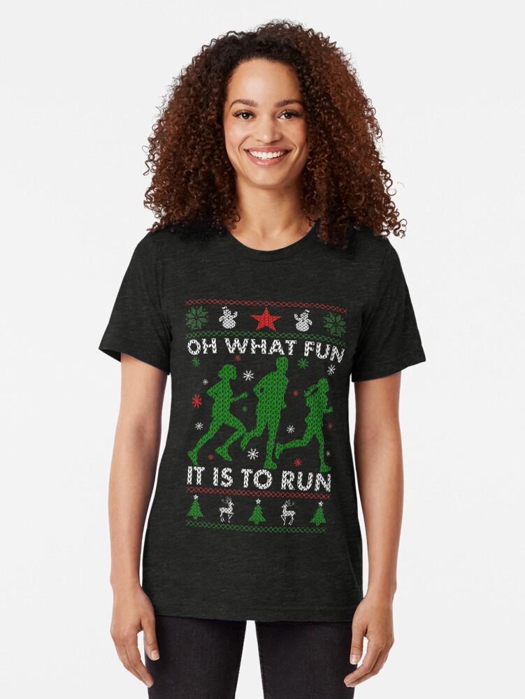 Alternative Ansicht von Hässliches Weihnachtst-stück laufen Vintage T-Shirt