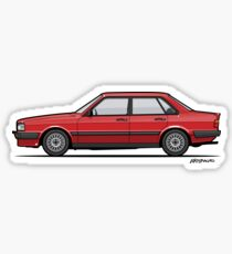 Four-Ring 80 B2 Quattro Tornado Red 4-Door Sedan  Sticker