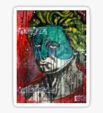 pop art Beethoven abstract ink painting  Sticker
