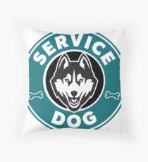 Service Dog Badge Throw Pillow
