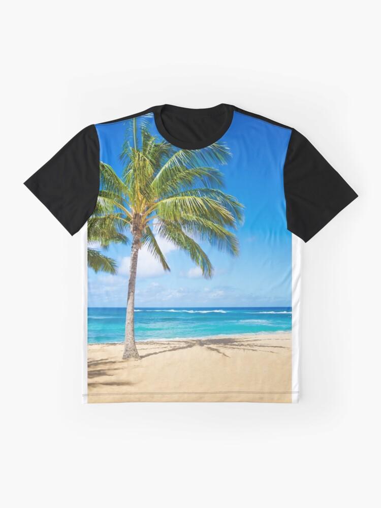 Alternative Ansicht von Palm trees on the sandy beach in Hawaii Grafik T-Shirt