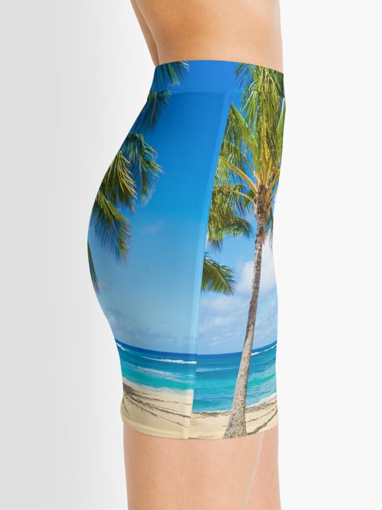 Alternative Ansicht von Palm trees on the sandy beach in Hawaii Minirock