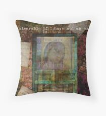 Jane Austen quote about books Throw Pillow