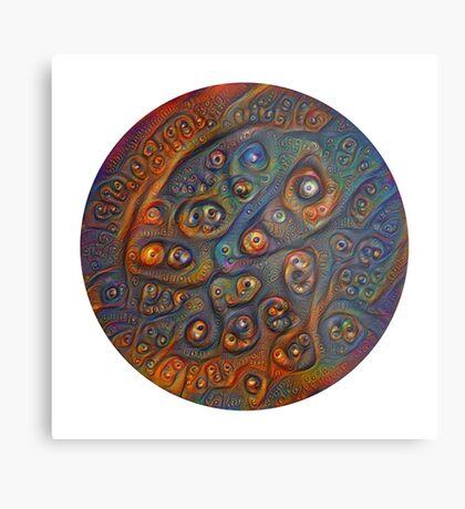 Planet Three #Deepdream Metal Print