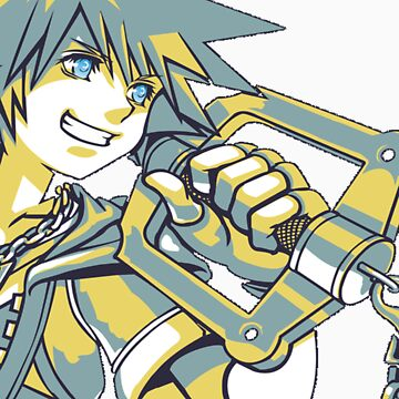 Kingdom Hearts - Sora Wielding the Keyblade by legendofsarah