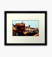 Shipyard circa 1910 Framed Print