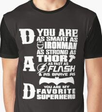 Dad - Superhero - Dad Gifts For Father's Day Graphic T-Shirt