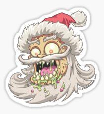 Psycho Santa Sticker Sticker