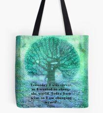 Rumi wisdom change quote  Tote Bag