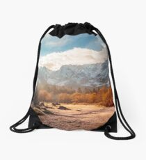 autumn sunrinse in the valley Drawstring Bag