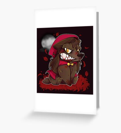 Little Red Werewolf Greeting Card