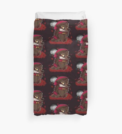 Little Red Werewolf Duvet Cover
