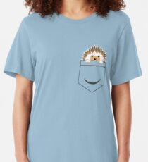 Hedgehog in your pocket! Slim Fit T-Shirt