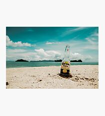 Beer in the Beach Photographic Print