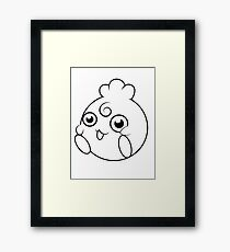 Igglybuff Black and White Design Framed Print