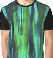 Abstract hand drawn print painted with acrylic and love Graphic T-Shirt