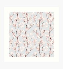 Blossom. Watercolor seamless floral pattern Art Print
