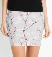 Blossom. Watercolor seamless floral pattern Mini Skirt