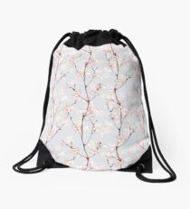 Blossom. Watercolor seamless floral pattern Drawstring Bag