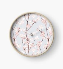 Blossom. Watercolor seamless floral pattern Clock
