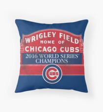 Cubs 2016 World Series Champions Throw Pillow