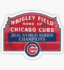 Cubs 2016 World Series Champions Sticker
