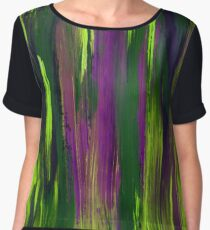Abstract hand drawn print painted with acrylic and love Chiffon Top