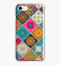 Buntes Bohemian Mandala Patchwork Design iPhone Case/Skin